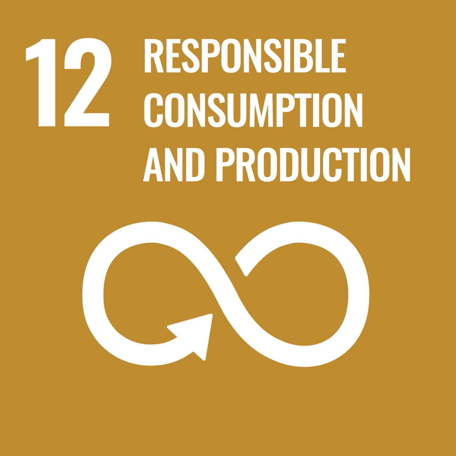 UN logo for responsible consumption and production