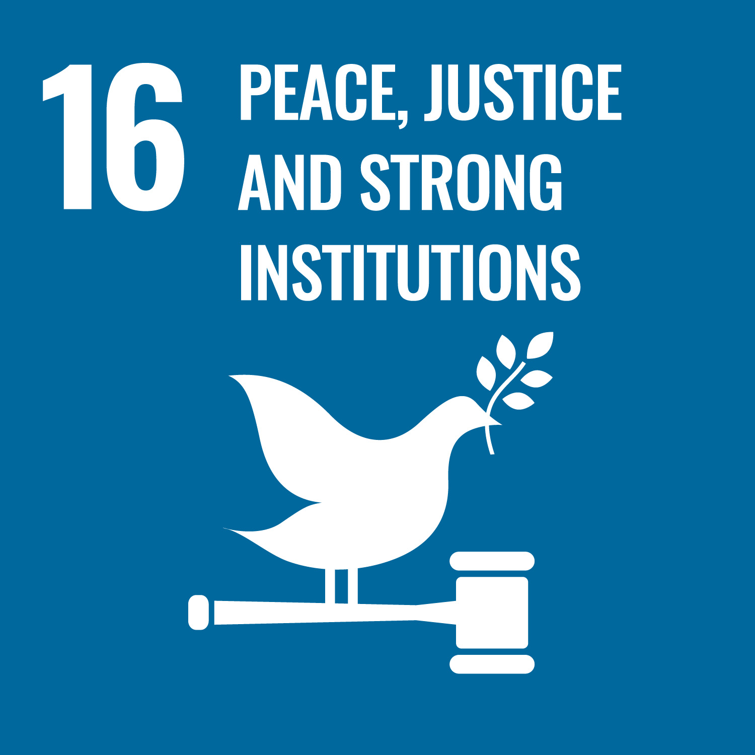 Un logo for peace justice and strong institutions