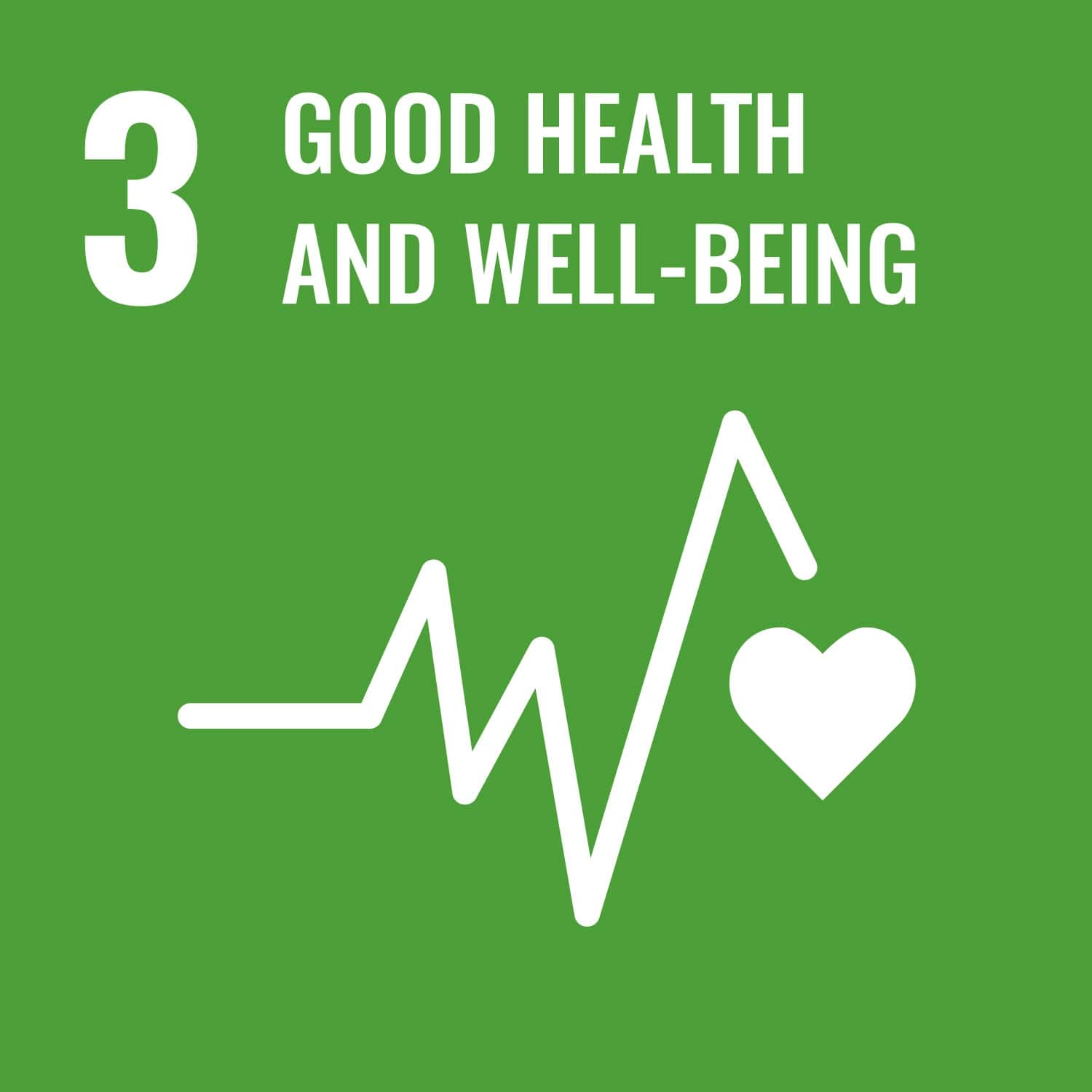 UN logo for good health and wellebing