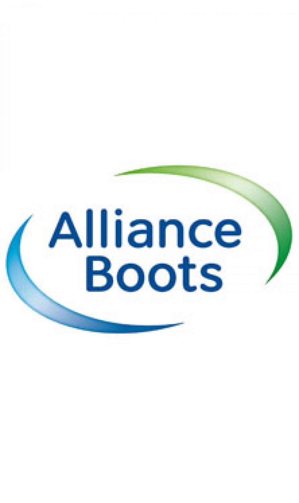 The blue and green Alliance Boots logo, pictured on a white background