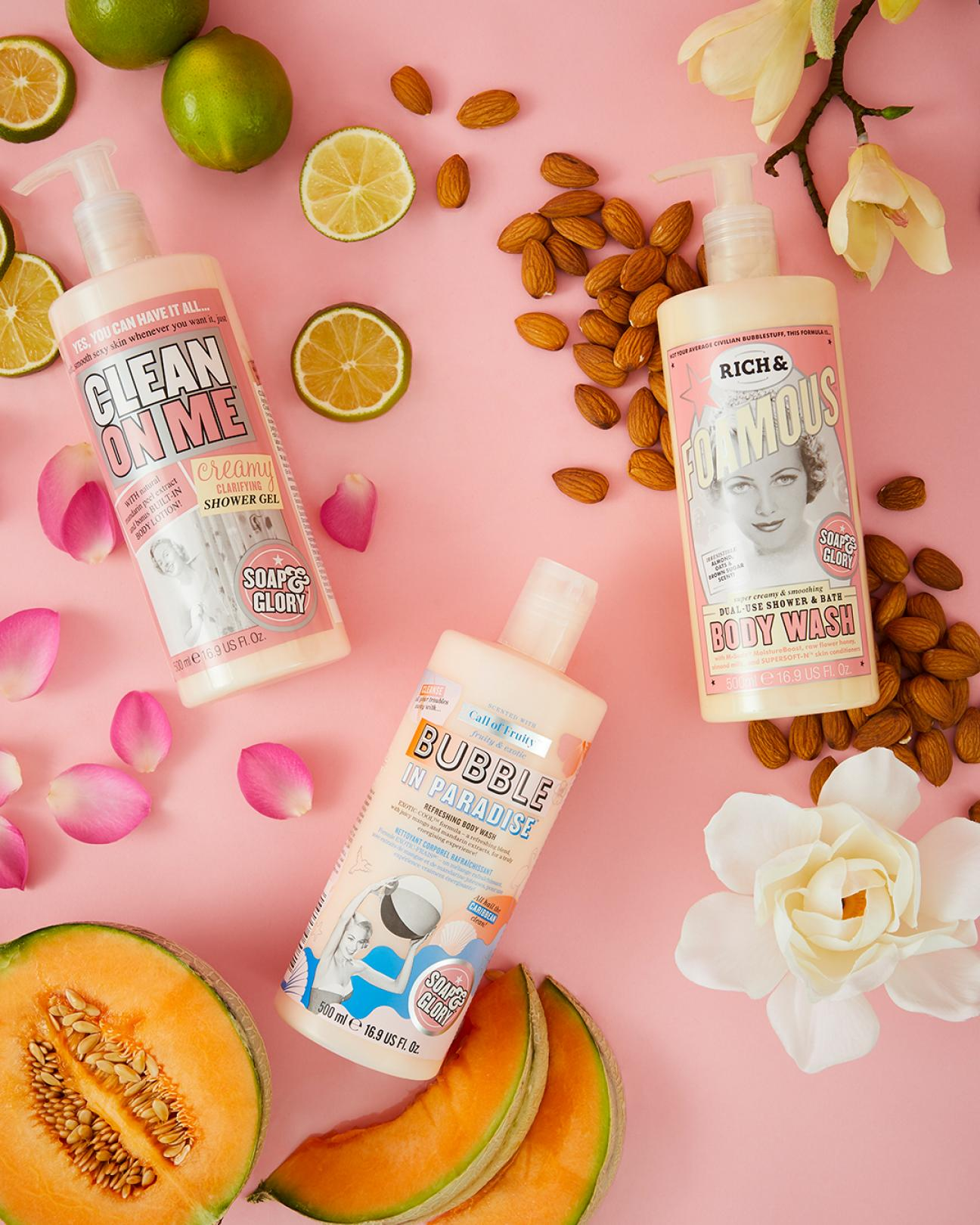 Three Soap and Glory body lotions