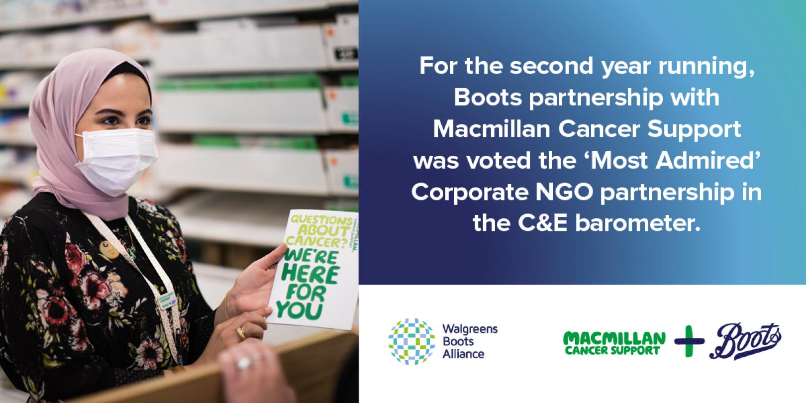 Boots UK & Macmillan Cancer Support voted Most Admired Corporate NGO Partnership Twitter LinkedIn